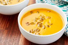 Panera Autumn Squash Soup Is Even Better HomemadeDelish Gourmet Recipes, Soup Recipes, Cooking Recipes, Healthy Recipes, Copycat Recipes, Veggie Recipes, Delicious Recipes, Recipies, Yummy Food