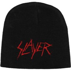 634ddb217ce Slayer - Scratched Logo Men s Beanie Winter Knit Hat Metal Music Band  Official in Entertainment Memorabilia