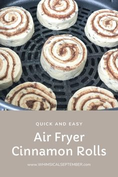 Air Fryer Cinnamon Rolls: This quick and easy breakfast recipe helps get breakfast on the table in five minutes flat! No more waiting for the oven to. Air Fryer Oven Recipes, Air Frier Recipes, Hard Boiled Egg Cooker, Breakfast Recipes, Breakfast Ideas, Brunch Recipes, Quick And Easy Breakfast, Cinnamon Rolls, Yummy Food