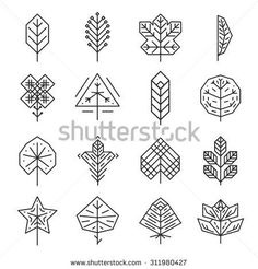 hipster geometric leaf - Google Search