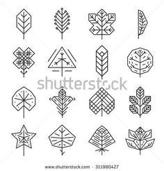 hipster geometric leaf - Google Search