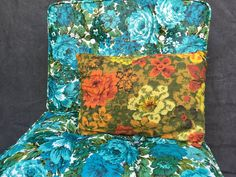50's Mid Century Floral Pillow by ElkHugsVintage on Etsy
