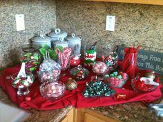 Christmas candy bar.