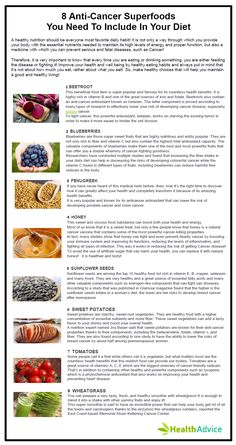 8 Anti-Cancer Superfoods You need to include in your diet