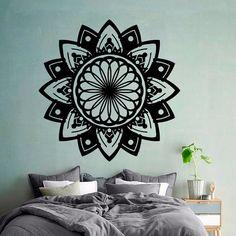 Flower Wall Decals Indian Mandala Pattern Yoga by DecalMyHappyShop