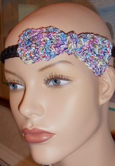 Available at Captola at Etsy.com Crochet with button fastener bow tie choker or head band