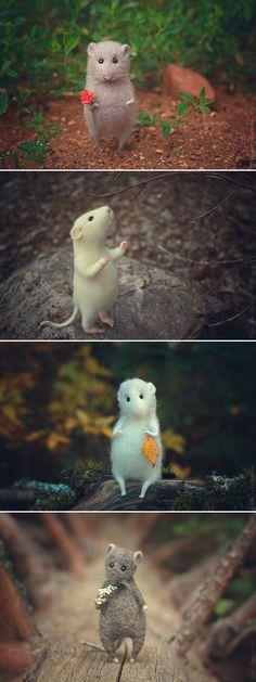 Felted Mice | Очаровательные валяные мышки