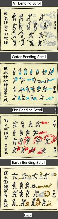 Avatar's bender training scroll. I need this, in case a fire nation attack  Brb gonna try it