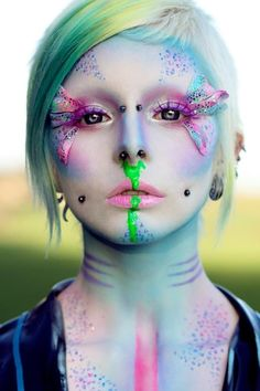 Fantasy Makeup Fantasy Makeup Make up Fantasy Fairy Makeup, Mermaid Makeup, Makeup Fx, Alien Makeup, Makeup Ideas, Pixie Makeup, Devil Makeup, Witch Makeup, Eyeshadow Makeup