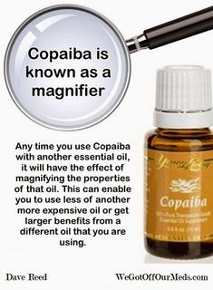 """Copiaba Essential Oil is an anti-inflamatory giant & Heart healthy! Copaiba - Feel a difference in just 10 minutes! It's totally amazing! Copaiba (pronounced """"Ko-pah-ee-bah"""") essential oil is potentially the highest anti-inflammatory substance known to man either natural or synthetic. It has greater anti-inflammatory action than Ibuprofen or even Cortisone – and with NO SIDE EFFECTS!"""