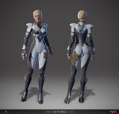 ArtStation - Skyforge female 3d character - Racer, Andrei Kolchin