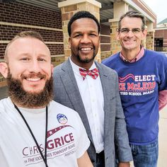 Representing Chris Grice for Township with Principal Slaughter and Tomball ISD Candidate Lee McLeod. #ChrisCares #LeeCares. Polls open until 7pm!