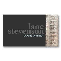 22 best event planner business cards images on pinterest business entertainment sparkling faux sequins black 2 business card colourmoves