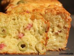 Cake moelleux jambon olives vertes