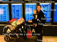 Flying with a Baby: Tips // A really thorough list of things to think about/do