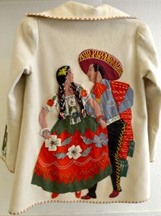 Love the Folkart western look of this traditional Mexican art on clothes.