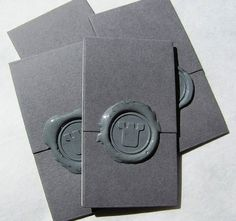 Wax Seal - Gray