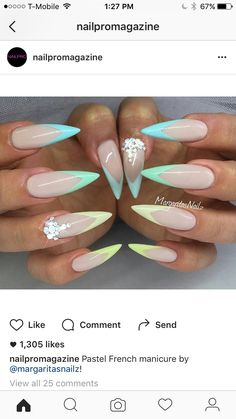 Cute Stiletto Nails With Matte Accents. If you are a passionate lover of a matte finish, have a look at these matte and cute stiletto nails. 1550691647 110 25 Amazing Stiletto Tip Nail Designs That Love stiletto Nail Art Designs, Colorful Nail Designs, Art D'ongles Pastel, Cute Nails, Pretty Nails, White Stiletto Nails, Nails Art 2016, Nails 2018, Nagel Hacks
