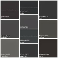 Colors gray to black on pinterest farrow ball benjamin - Black and white paint schemes ...