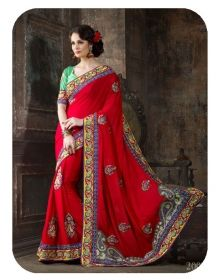 Georgette Designer Saree 4108