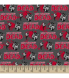 Walking Dead Glow In The Dark Editorial Cotton from Jo-anns Fabric Store.