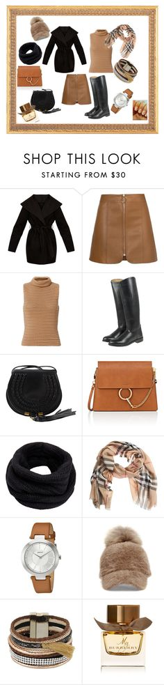 """""""Lets have a walk outside...."""" by ipekzsuel on Polyvore featuring moda, Exclusive for Intermix, Chloé, Helmut Lang, Burberry, DKNY ve Steve Madden"""