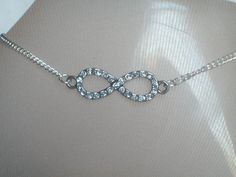 Infinity Anklet, Bling Jewelry, Diamond Look Crystals, Glamour, Trendy, Summer Wear, Ankle Jewelry, Diamonds are Forever by JypsyJewels on Etsy https://www.etsy.com/listing/514115818/infinity-anklet-bling-jewelry-diamond