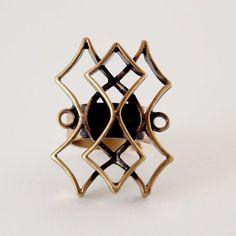 #shopjewelry > Pentti Sarpaneva, vintage modernist bronze ring, 1960's. #Finland | FinlandJewelry.com