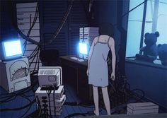 When you're too tired to check Twitter but have to check Twitter (Serial Experiments Lain)