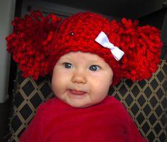Cabbage patch kids hat. Crochet hat. Crochet beanie.. $23.00, via Etsy.