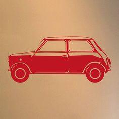 classic mini vinyl wall sticker side by oakdene designs | notonthehighstreet.com