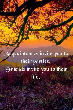 The difference in acquaintances and actual friendships.