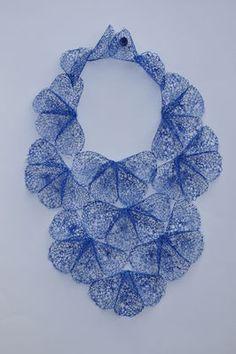 Bright Blue Petal Neckpiece