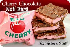 Cherry Chocolate Nut Bars from SixSistersStuff.com. One of our favorite Christmas recipes!