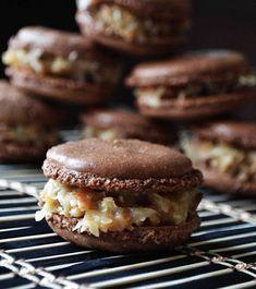 German Chocolate Macarons - My Honeys Place