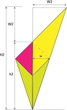 Kite shawl calculations: Basic geometry of the decrease section