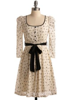 bow print #dress. modcloth. $47.99