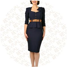 Philippa Smart Navy Dress