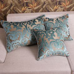 Luxury French Classic Floral  Damask Blue Cut by craftfabric030, $16.80