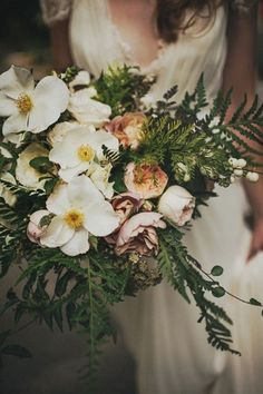 Luxe Bohemian Chic Wedding- Striking Woodland Wedding Bouquets To Rock