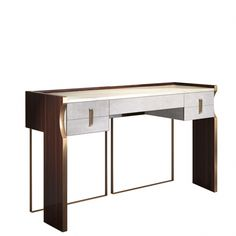 #homeofficefurnitureideasstudyareas Small Office Furniture, Home Furniture, Dressing Table Desk, Study Areas, Sideboard Cabinet, Bedroom Apartment, Console Table, Modern Interior, Office Desk