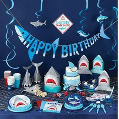 Shark Party Favors, Shark Party Decorations, Shark Party Supplies, Party Favor Bags, Favor Boxes, Birthday Decorations, Party Blowers, Happy Birthday Banners, Boy Birthday Parties