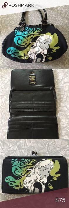 💚Disney Cotoure Loop NYC  ALICE IN WONDERLAND💚 Disney Cotoure by Loop NYC  BNWOT GOTHIC ALICE IN WONDERLAND Satchel Gently Used Checkbook Kisslock Wallet Bags Satchels