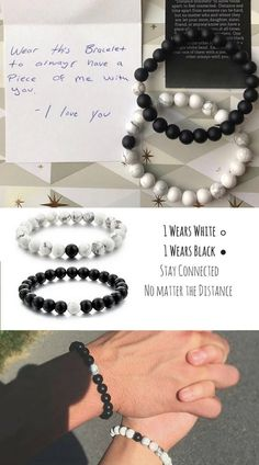 Distance Means Nothing because you mean everything❤.Couple Long Distance Promise Bracelets Natural Stones Beaded Bracelet For Men And Women.These bracelets are not just ordinary bracelets but are designed to keep the love bond forever.Perfect Couple goals gifts for valentines day,birthday and anniversary. #Valentinesday #Christmas #birthday #anniversary #longdistancegifts #giftsforhim #giftsforher #couplegifts #thoughtfulgifts
