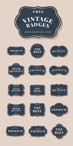 Free and Premium vintage badge images, vectors and psd mockups Vintage Logo Design, Graphic Design, Food Packaging Design, Vintage Labels, Logo Design Inspiration, Label Design, Free Design, Creative Design, Cool Designs