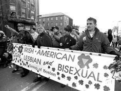 """The Irish American Gay, Lesbian, and Bisexual Group of Boston in 1992 registered to march in the St. Patrick's Day parade, an event co-sponsored by the City of Boston and the South Boston Allied War Veterans Council. The Veterans' Council-headed by Korean War veteran John Hurley-rejected the group's registration on the grounds that GLIB posed a """"safety concern."""" The group in '92 and '93 won court orders to march. Rather than let GLIB march in '94, the Veterans Council canceled the parade."""