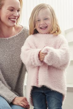 Beautiful knitted sweater for kids made with Novita's super soft Pilvi yarn.