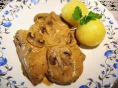 ... ein Rest vom Hähndl mit frischen Champignons