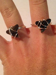 Wire Wrapped Shark Tooth Ring shark tooth by DayDreamingDecor