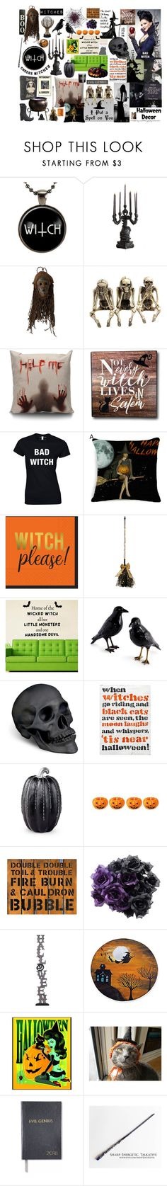 """""""The West? Oh Honey, I'm the Wicked Witch of Everything!"""" by curekitty ❤ liked on Polyvore featuring Seletti, Grandin Road, NOVICA, Design Design, L'Objet, Pottery Barn, Improvements and Sloane Stationery"""